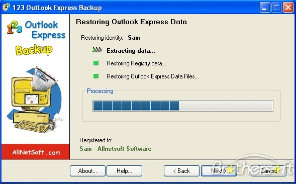 image 123 Outlook Express Backup 2.00,Outlook Express Backup image