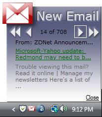 Gmail Icon Notifier
