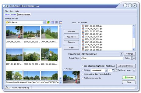 image for FastStone Photo Resizer 2.7