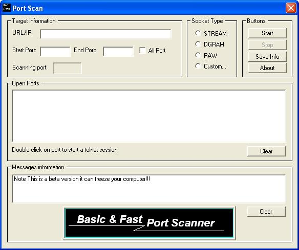 Basic Port Scanner 1.0.0.1