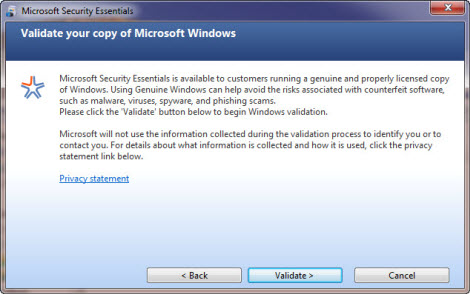 Microsofts free antivirus software